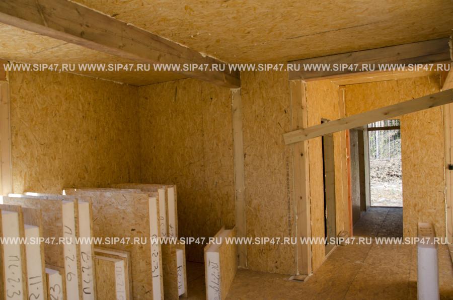 Внутренняя отделка домов из сип панелей своими 4