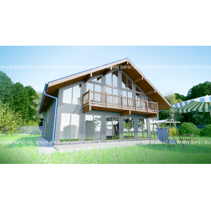 дом из сип панелей 11х11