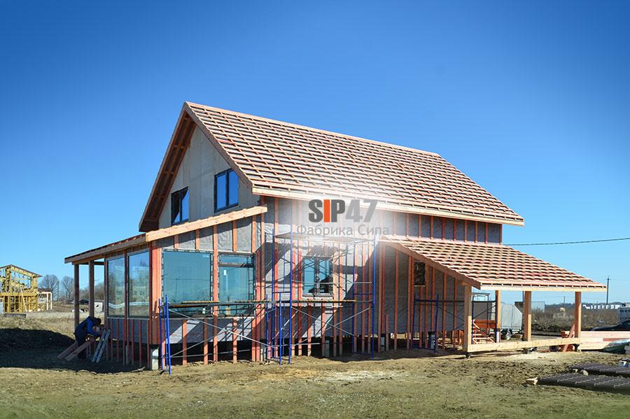 Строительство дома из огнестойких СМЛ- СИП- панелей