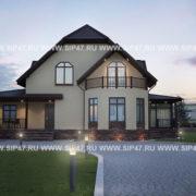 Большой дом из сип панелей