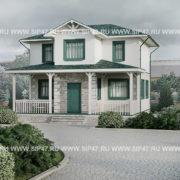 Типовой проект дома из СИП панелей 7х8 метров