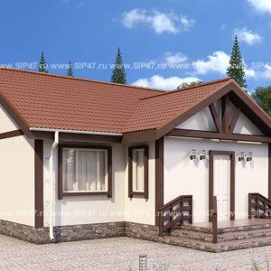 Типовой проект дома из СМЛ-СИП-панелей 12,6х12