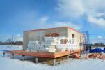 Идет строительство дома из СМЛ-СИП- панелей