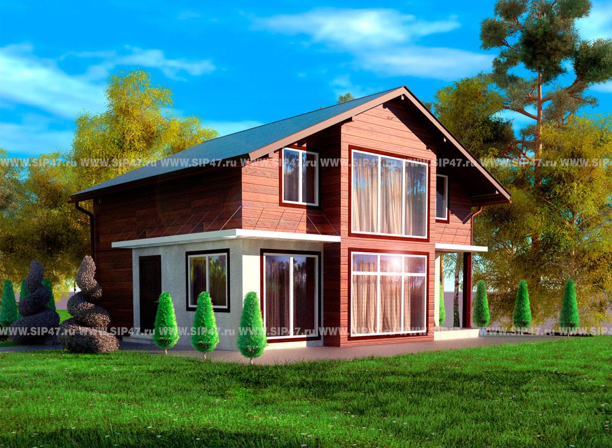 Отгружен дом из сип панелей гарден