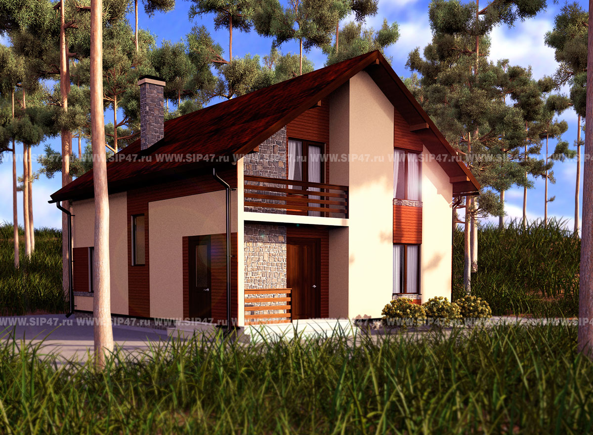 Дом из сип панелей 163 м2