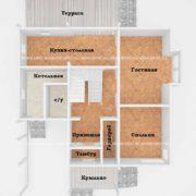 Планировка 1 этажа тп3