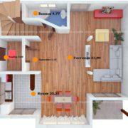 Планировка 1 этажа тп2
