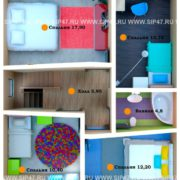 Планировка 2 этажа тп1