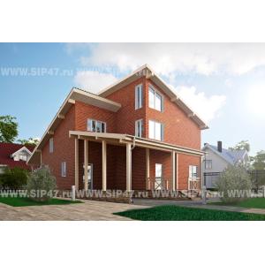 Дом из сип панелей 335 м²