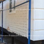 Облицовка фасада дома из сип панелей