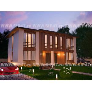 дом из сип панелей дуплекс