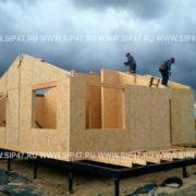 Сборка крыши сип дома