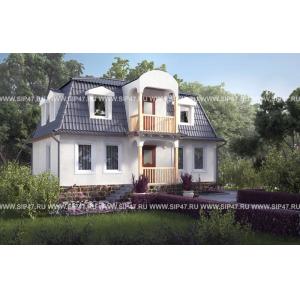 дом 7х10 двухэтажный с балконом