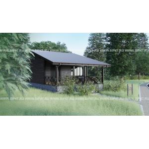 дом из сип панелей для базы отдыха