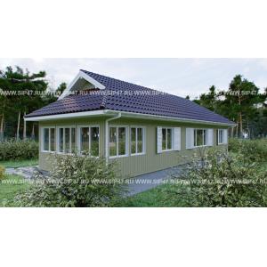 Дом из сип панелей 8х15