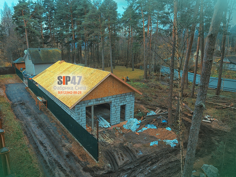 Крыша из СИП SIP панелей