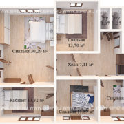 План дома из сип панелей