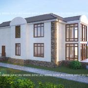 Типовой проект 28 | дом из СИП панелей