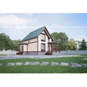 Дом из сип панелей 7,5х10