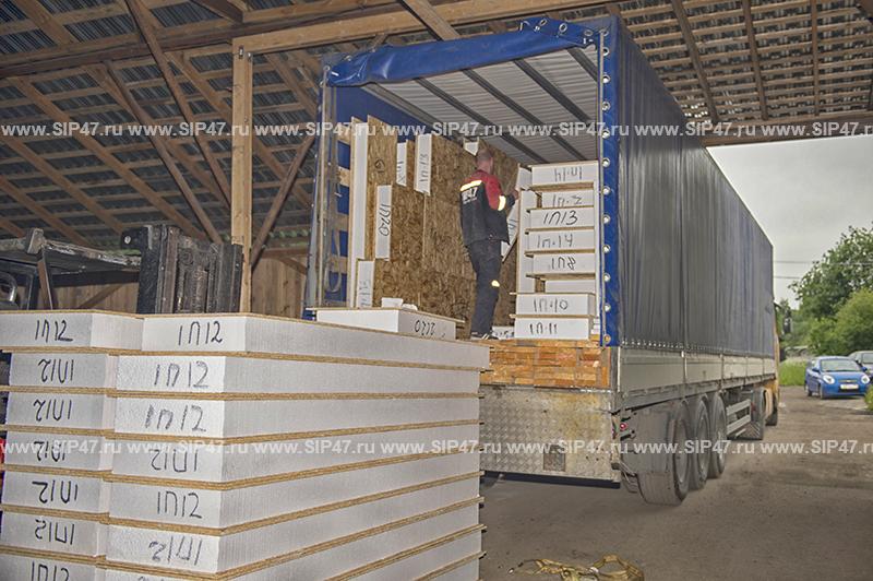 Отгружен домокомплект из СИП панелей в город Геленджик