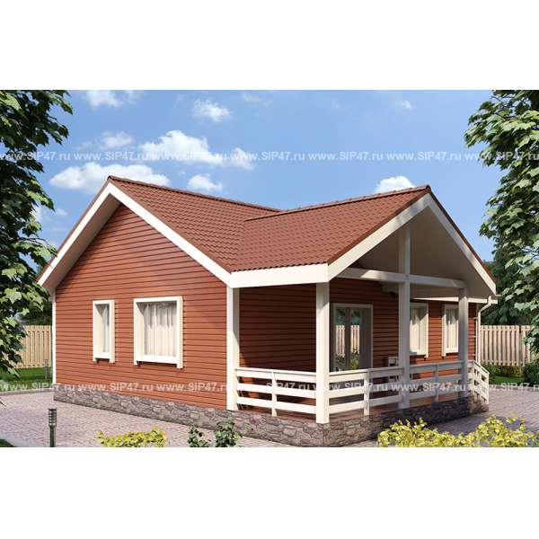 Типовой проект дома из СИП панелей 12,6х12