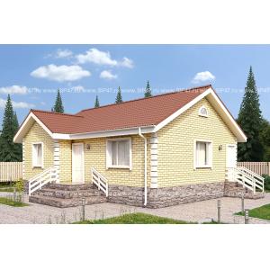 Типовой проект домаиз СМЛ-СИП-панелей9,8х11,2 м