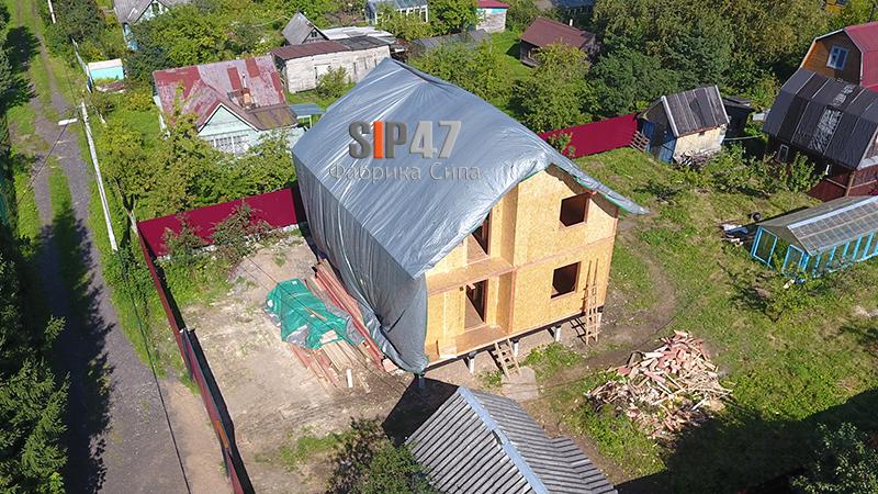 Закончен монтаж СИП-дома