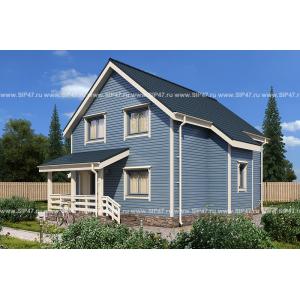 Дом из СМЛ - СИП-панелей 164,4 м²