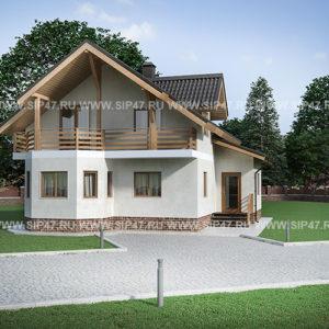 Дом из СМЛ - СИП-панелей 129,5 м²