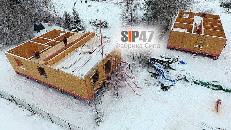 Дом из СИП панелей 100 м.кв.