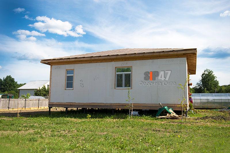 Закончен монтаж коробки дома из СИП- панелей Комбо