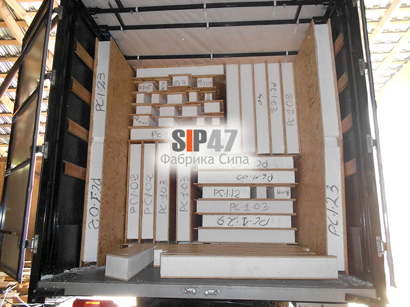 Комплект дома из СИП- панелей отправляется в город Химки