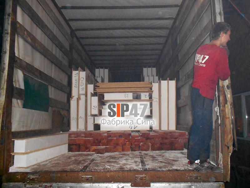 Комплект СИП- панелей в посёлок Левашово Выборгский район