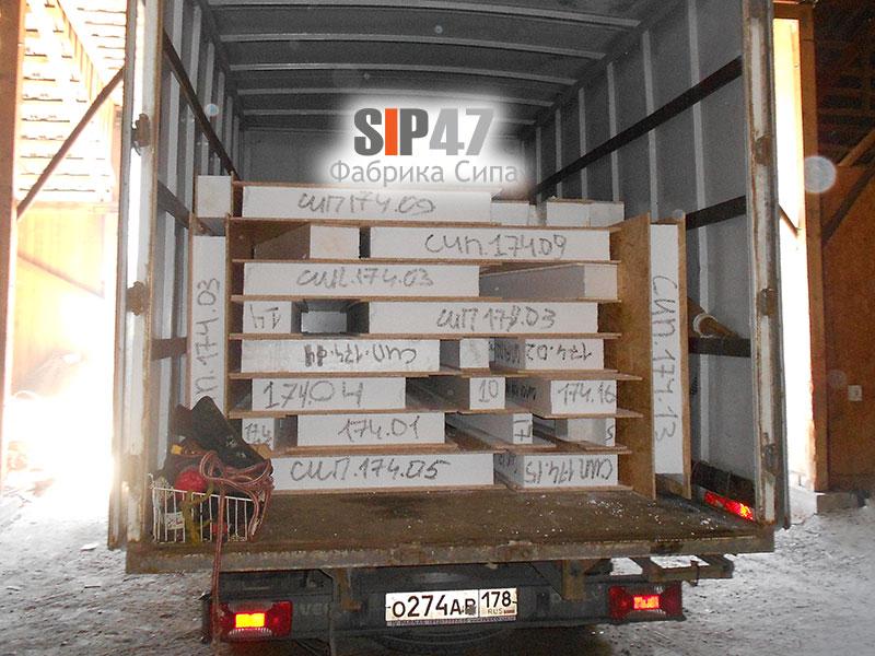 Пристройка из СИП- панелей отгружена в город Петергоф