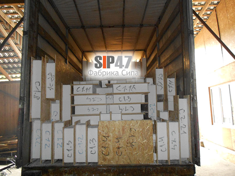 Домокомплект из СИП- панелей- стандарт отгружен в Ропшу