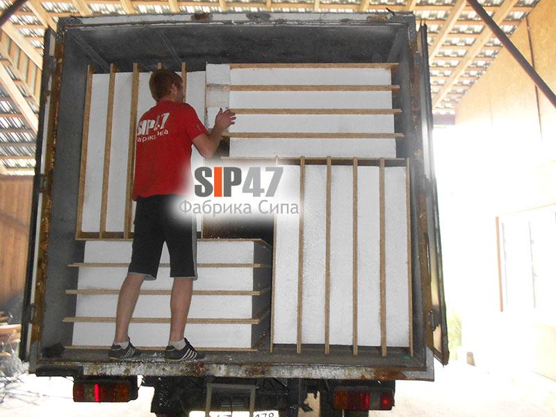 Продолжается отгрузка СИП- панелей в город Сертолово