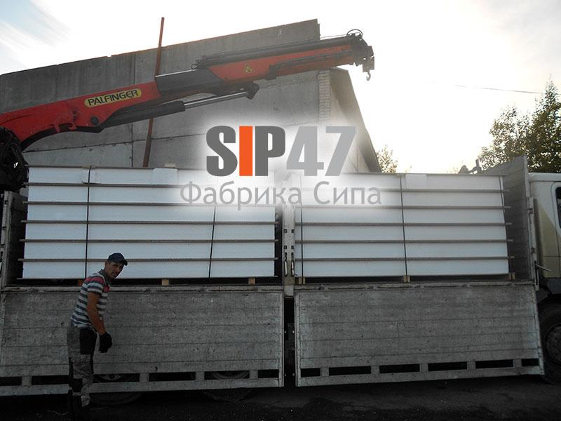 СИП- панели из ЦСП отгружены в город Петергоф