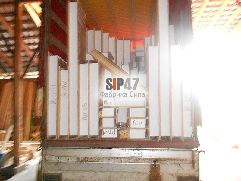 Отгружен дом из стандартных СИП- панелей в Москву