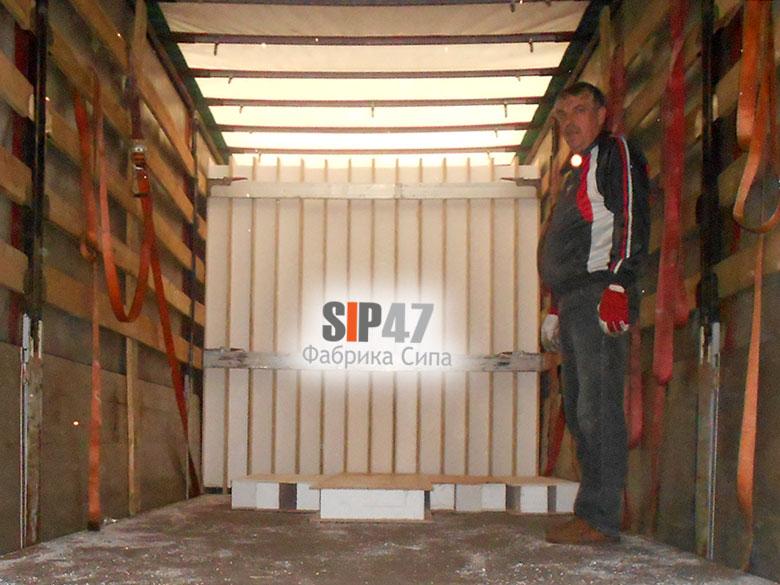 Отгружены стандартные СИП - панели в город Псков