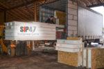 Отгрузка домокомплекта из СИП- панелей на Волхонское шоссе посёлок Стрельна