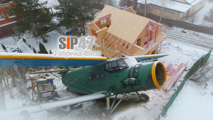 Продолжается строительство дома на колесах из СИП- панелей