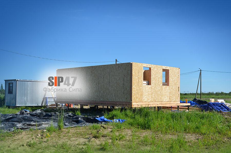 Идет строительство СИП- дома по проекту №54