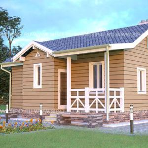 Дом из сип панелей 55 м²