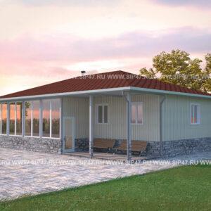 Типовой проект домаиз СИП панелей144,7 м²