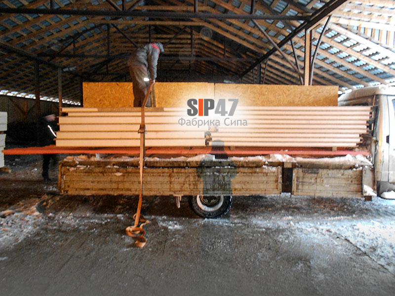 Доставка СИП панелей в СНТ Московка Гостилицкое шоссе