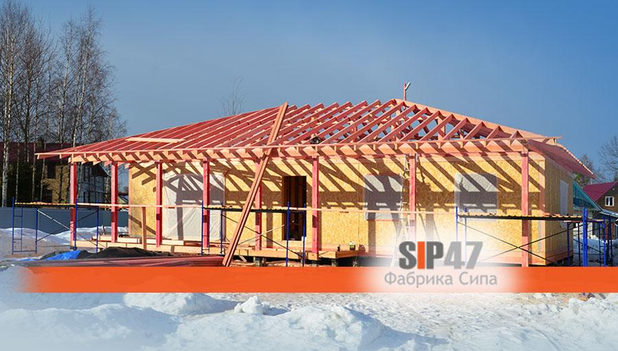 В деревне Ириновка закончено строительство коробки дома из СИП- панелей