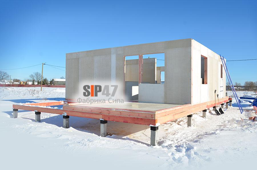Идет строительство СИП дома по проекту №58 из СМЛ