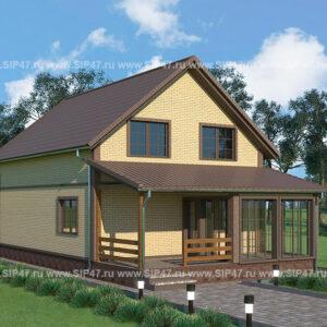 Дом из СМЛ- СИП- панелей 176 м²