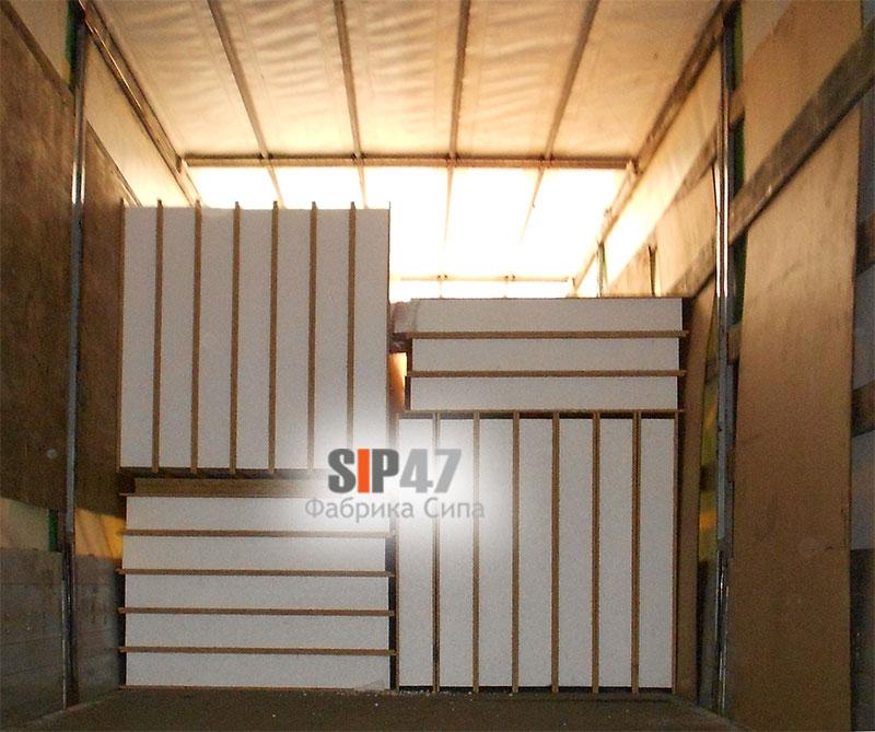 Стандартные СИП- панели отгружены в Ленинградскую область Разбегаево