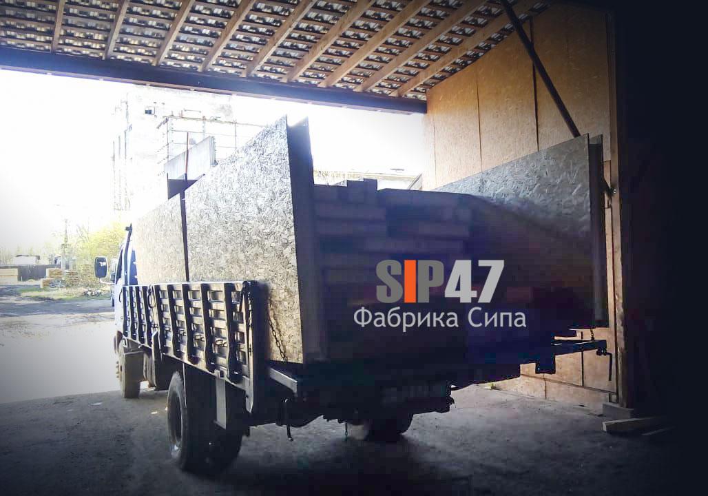 Отгружен комплект СИП панелей и пиломатериалов для строительства гаража
